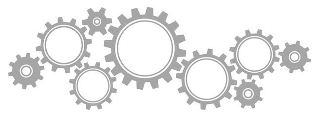 Gears Border Graphics Grey