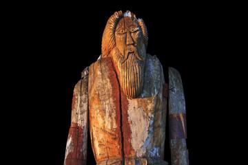 Norse God Odin isolated on black background