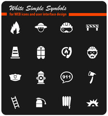 fire brigade icon set