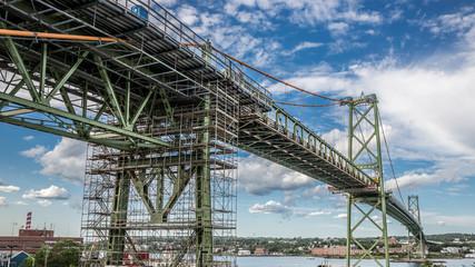 Fixing the bridge in Halifax harbor