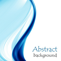 Abstract background with blue waves