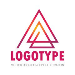 triangle line abstract company logo