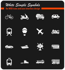 transport types icon set