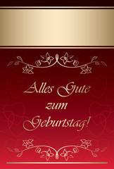 Alles gute zum Geburtstag - Happy birthday - red vector greeting card