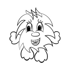 Vector Funny furry animal kind boy