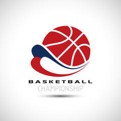 Basketball Championship Icon. Basketball Logo Vector Illustration. Sport Poster Concept.