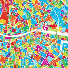 Dublin, Ireland, Colorful Vector Map