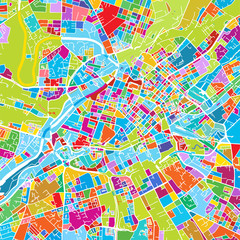 Manchaster, England, Colorful Vector Map