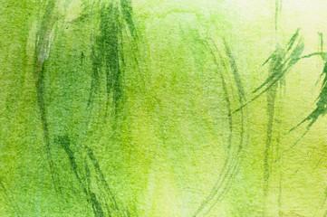 grüne Gräser, Aquarell Malerei