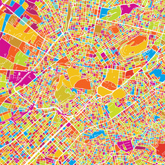 Athens Colorful Vector Map
