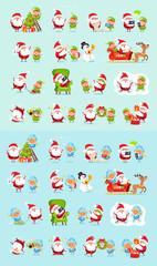Santa, Reindeer, Snow Maiden, Ice Princess Elf Set