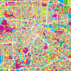 Houston Colorful Vector Map