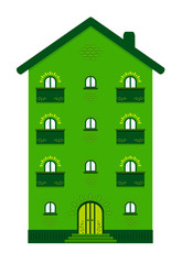 edificio con case