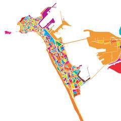 Cádiz Colorful Vector Map