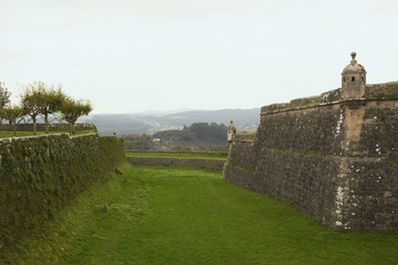 Old fort and grassy moat