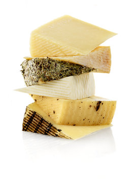 assorted manchego cheese wedges