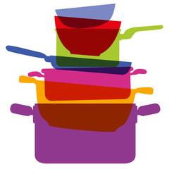 Ustensile - Récipient - casserole - marmite - cuisine