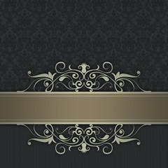 Decorative background with elegant border.