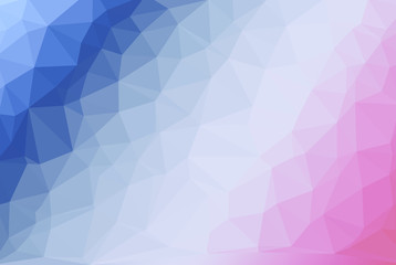 Blue and violet gradient abstract low poly style illustration graphic background