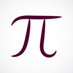 Abstract contour stylized pi symbol