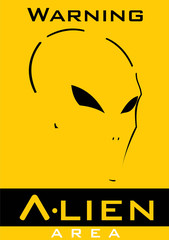 Alien. Alien face. Alien head. Warning alien area sign. ghost, warrior ghost. ghost warrior. Suitable for team identity, insignia, emblem, illustration for apparel, biker or motorcycle community ,etc.