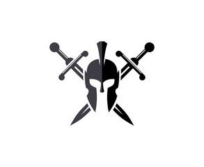 Sword helmet logo