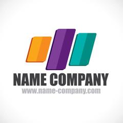 logo bandes multicolore décorateur conseil peintre