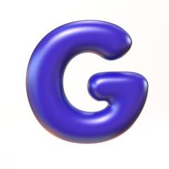 Bubbly 3d font letter G