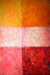 Acrylbild, orange,rot