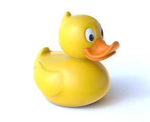 Rubber duck 3d rendering