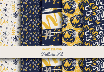 Hand-Drawn Brushstroke Pattern Pack