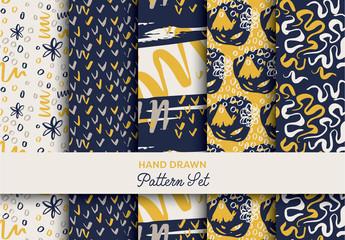 Hand-Drawn Brushstroke Pattern Pack