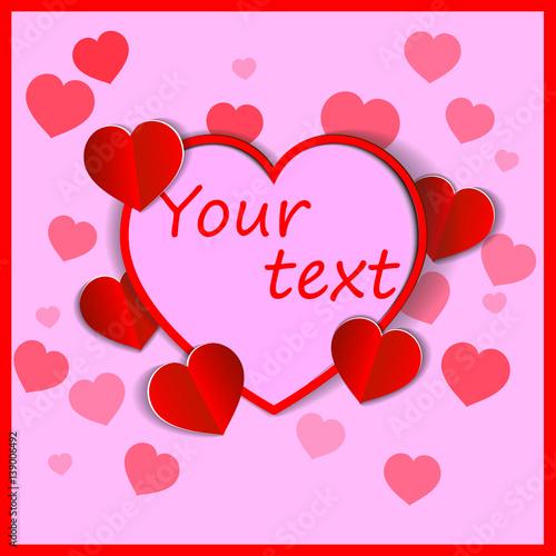 Eps 10 vector saint valentines day greeting card graphic paper eps 10 vector saint valentines day greeting card graphic paper effect 3d design heart m4hsunfo