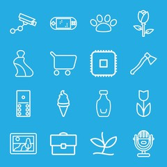 Set of 16 design outline icons