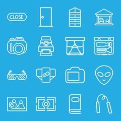 Set of 16 frame outline icons