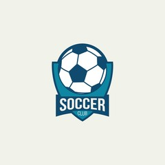 Soccer Logo Design Vector.