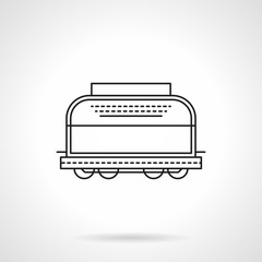 Refrigerated boxcar flat line vector icon
