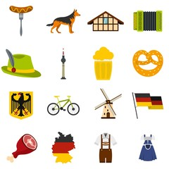 Germany set flat icons