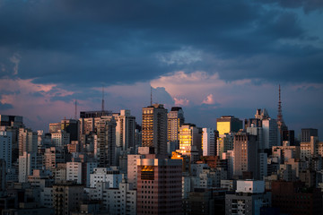 Sao Paulo at sunset