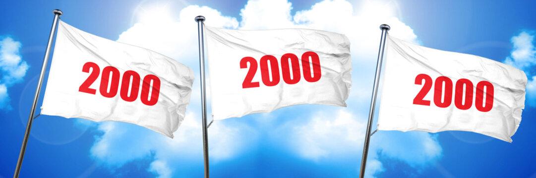 2000, 3D rendering, triple flags