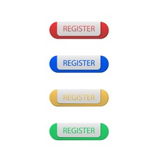 Set of Register Button. Isolated.
