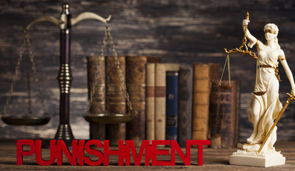 Punishment, Justice concept, Court gavel,Law theme, mallet of judge