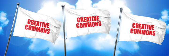 creative commons, 3D rendering, triple flags