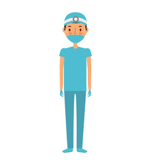 professional surgeon avatar character vector illustration design