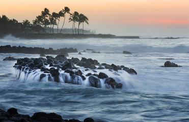 Morning light at Kakaki'ula Point, Kauai, hawaii