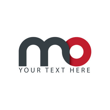 Initial Letter MO Rounded Lowercase Logo