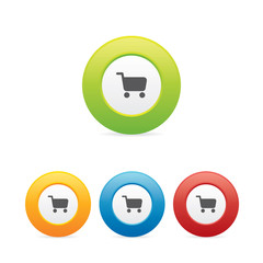 Colorful Shopping Cart Icons