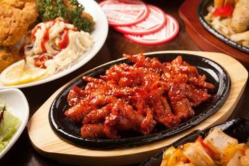 dakbal is korean style pub food Spicy chicken feet
