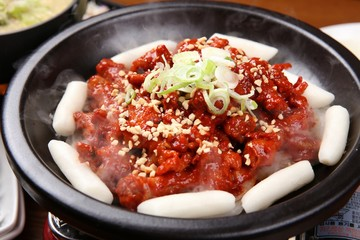 dakbal is korean style pub food Spicy chicken feet