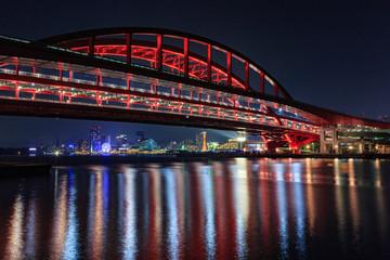 ポートアイランドからの夜景 - 神戸大橋・メリケンパーク・神戸ハーバーランド-